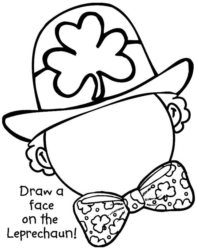 Draw a face on the Leprechaun!