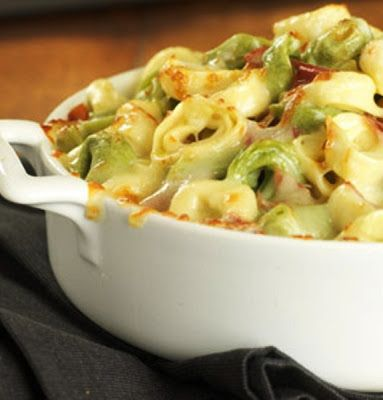 Baked Tortellini~T~ a nice go to dinner. You can add all kinds of things to dress it up.
