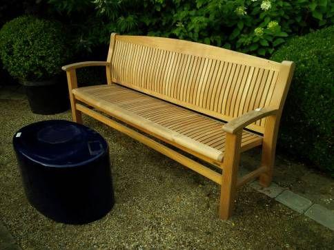 lawrence long teak bench mecox gardens