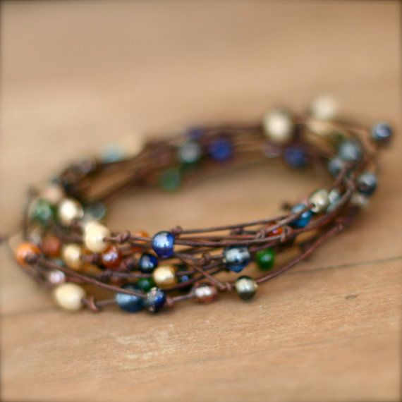 Love these bracelets. Wraps about 12 times around the wrist. About 2 1/2 yds. Of cord.
