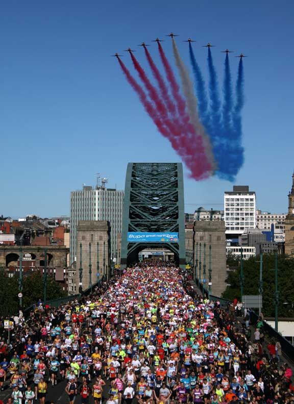 If you're going to run, or race this has too be on the list. The Great North Run in Newcastle. the UK's biggest running event and the second largest half marathon in the world with over 57,000 runners. 13.1 miles run to South Shields. Started 1981.