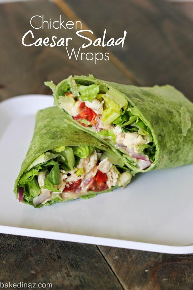 Grilled Chicken Caesar Salad Wraps Recipe Caesar Salad Chicken Caesar Salad And Wraps