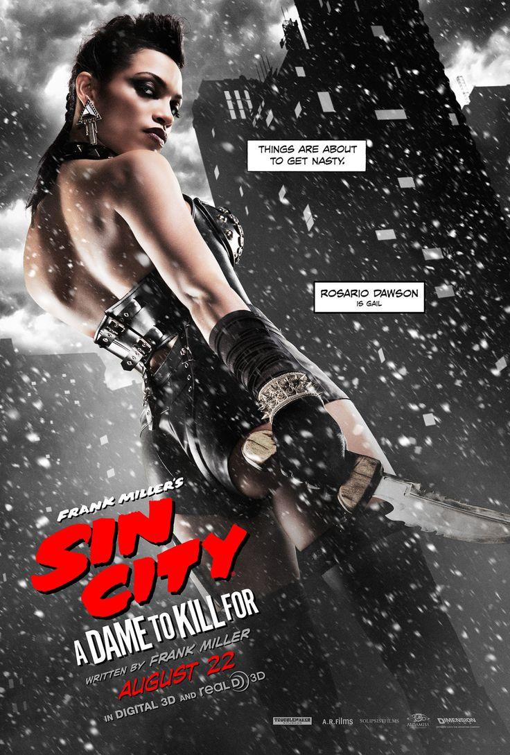 Gail (Rosario Dawson) in Sin City: A Dame to Kill For