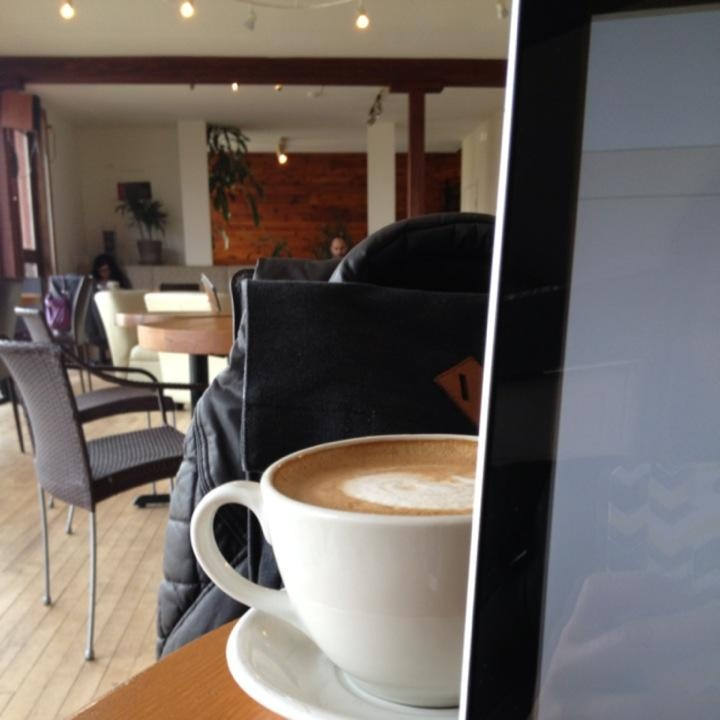 Laptop and coffee. Always a good combination. Image by pdot.