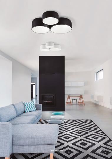 Plafón de techo POT TRIPLE | POT/TRIPLE/24210-60/BL/ | Keisu, iluminación y diseño.