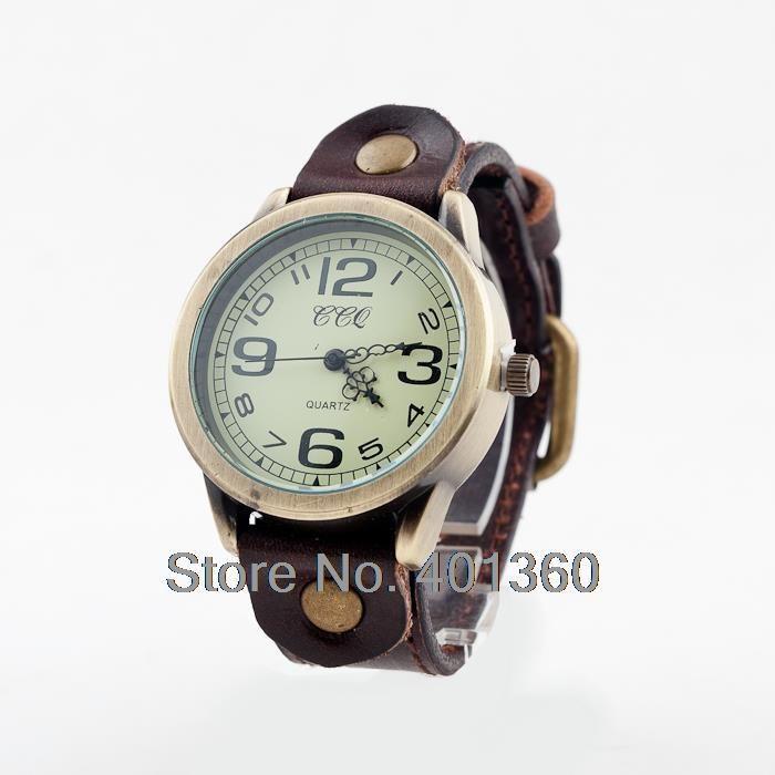 Унисекс Vintage мужская женские Часы Арабская Количество Телячья Кожа Часы Повседневная Кварцевые Аналоговые Наручные Часы