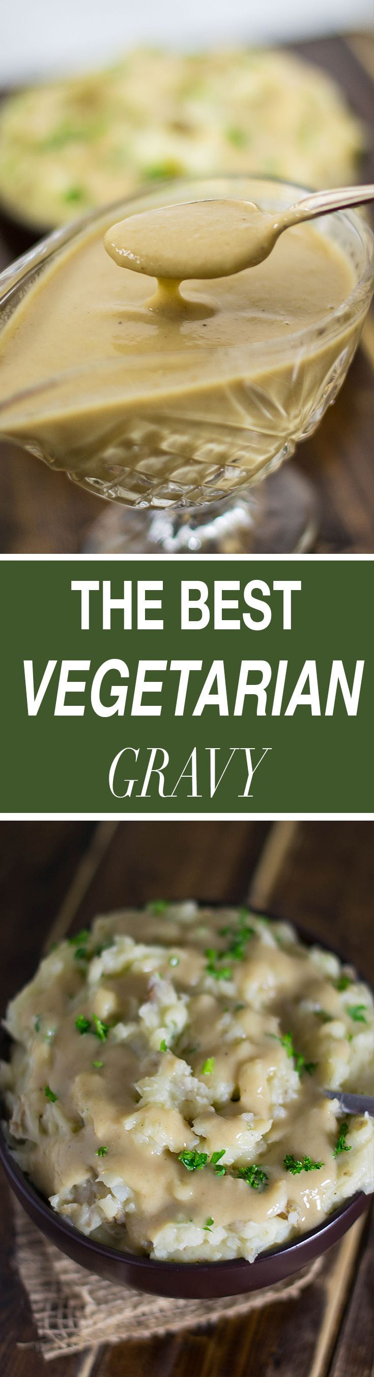The best vegetarian gravy recipe made with mushrooms, garlic and onion. Full of rich creamy flavor, this is sure to be a hit at your Thanksgiving table!