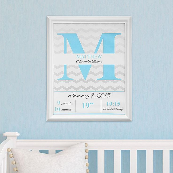 i could make something like this!  Capture all the details of baby's arrival in this timeless, yet contemporary design.