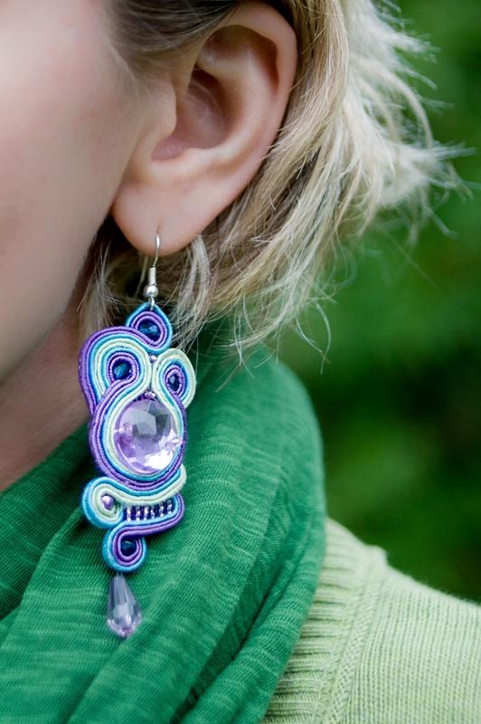 soutache earrings, sutasz, kolczyki, sutaszomania.blogspot.com