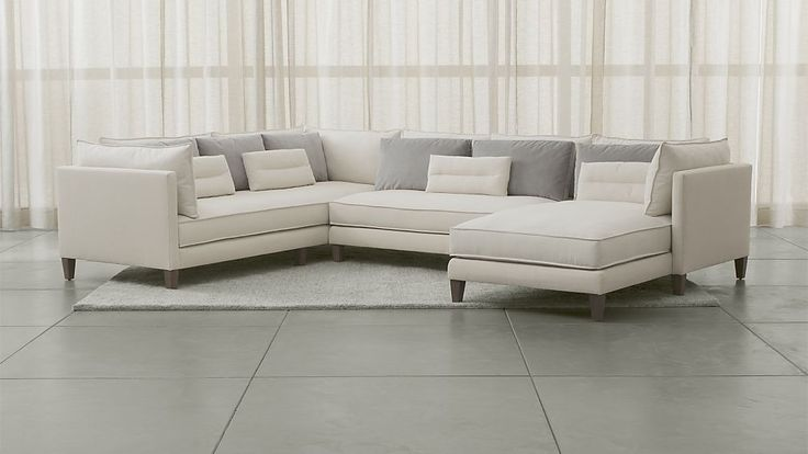 piece left arm chaise sectional crate and barrel crates and asana