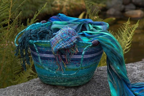 Coiled rope storage bowl by Batik Baskets