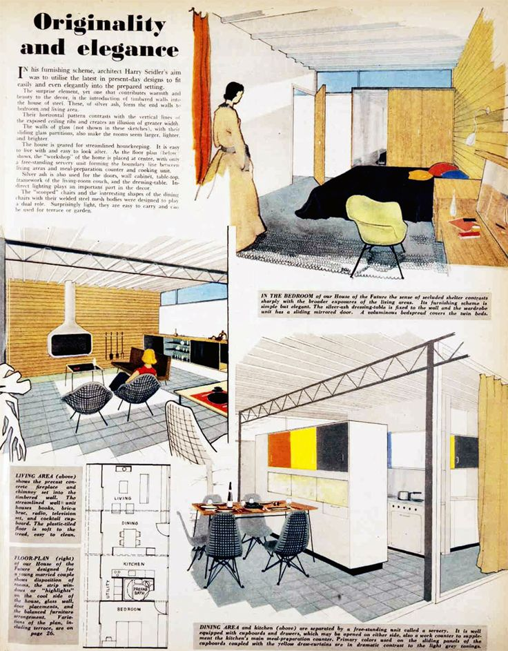 1954 interior design by Harry Seidler, Australia