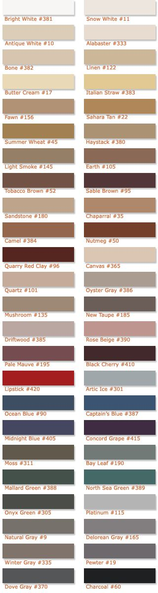 Grout colors: Platinum for kitchen subway tile Delorean Gray for master bath (all) and main bath Winter Gray for Guest bath (all)  colorchart.jpg 320×1,200 pixels