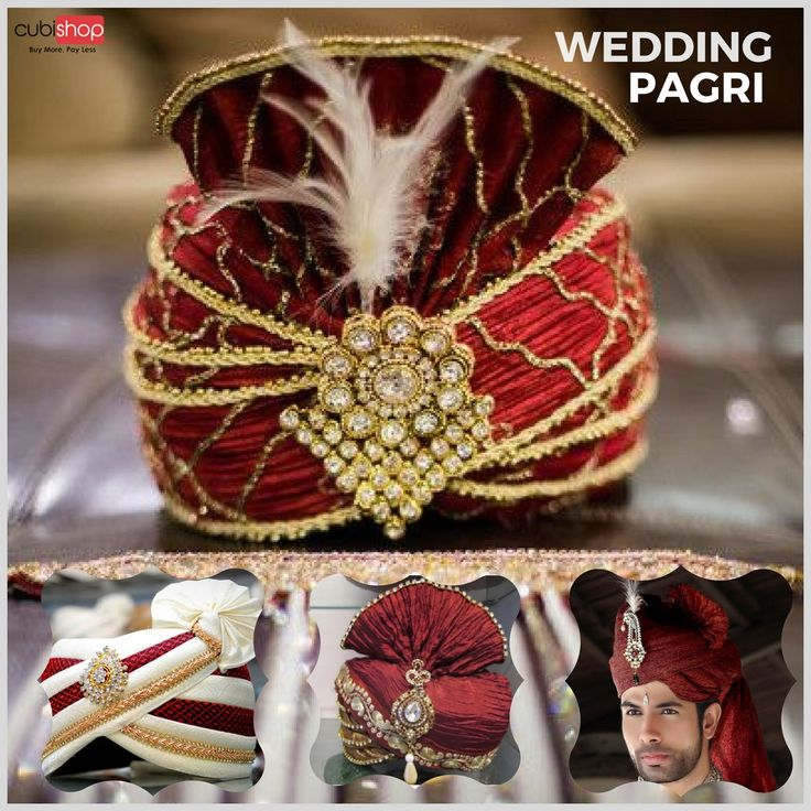 Buy Royal Velvet Wedding #Pagri for Groom at lowest prices from #CubiShop