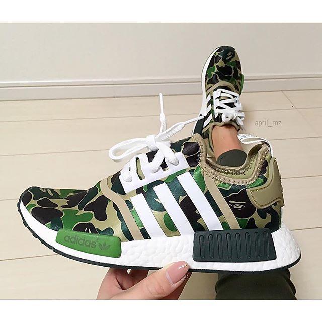 Lucky girl !! @april_mz . . . Adidas NMD x BAPE. Man ShoesWomen's ...