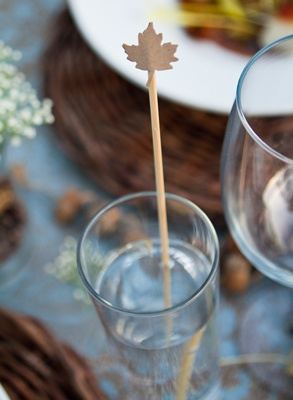 Maple Leaf Cocktail Stirrers | Cheers ! | Pinterest