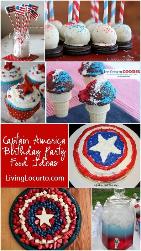 Fun Captain America Birthday Party Food Ideas at LivingLocurto.com