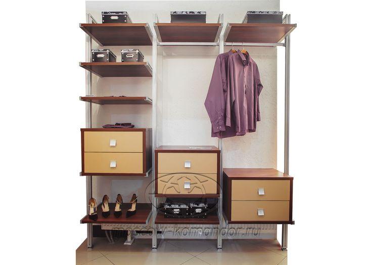 Гардеробная и колонная система Komandor, cтоимость по запросу. Фирменный магазин мебели на заказ KOMANDOR.
