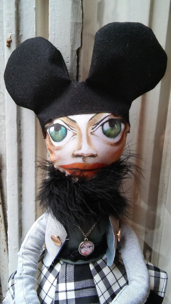 Fabric Art Doll inspired by estervarga painting by StuffsforGirlz