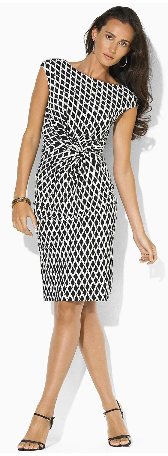 ralph lauren black-colonial-cream dress