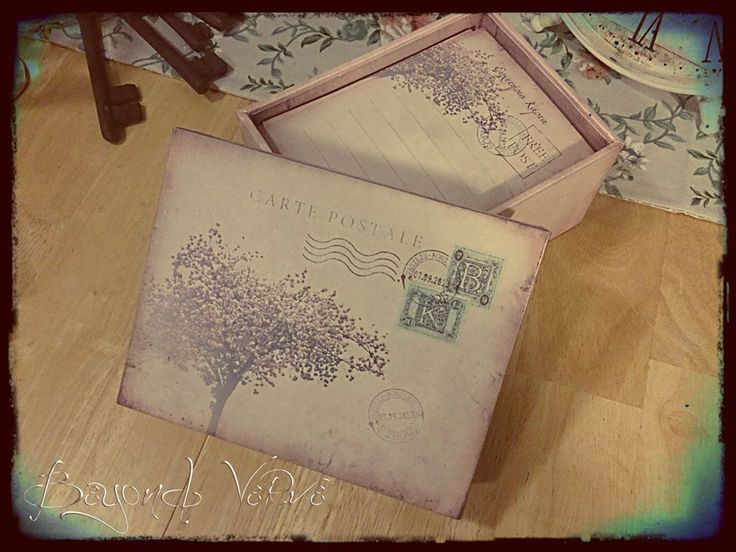 Carte postale wish cards with box - Cherry tree - Vintage wedding stationery - Beyond Verve