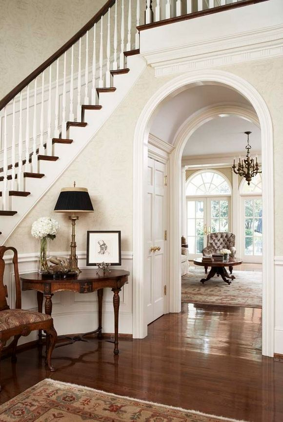 love the closets under the arch
