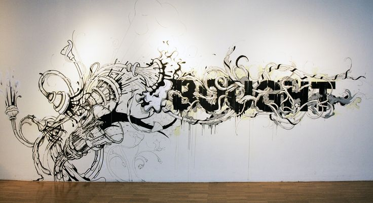 ornamental typography on wall | Typophile