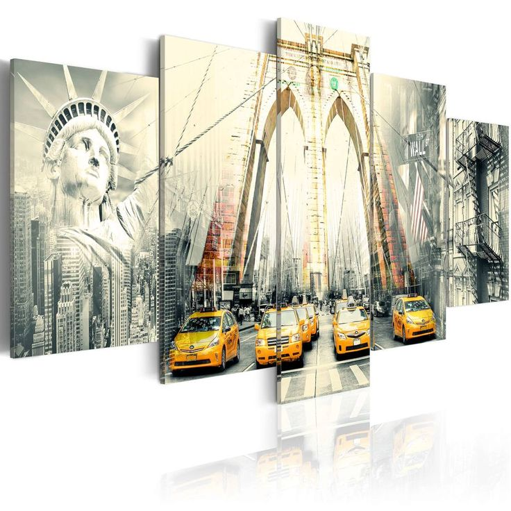 Fabulous Modernes Wandbild x Teilig Bilder Fotografie auf Vlies Leinwand Foto Bild Dekoration Wand Bilder Kunstdruck NEW YORK