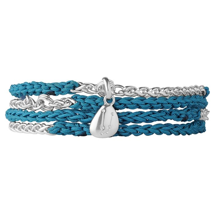 Turquoise Charm Wrap Bracelet, Links of London Jewellery