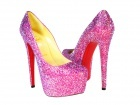 CH Christian Louboutin Limited Edition Pink Daffodile Crystal Pumps
