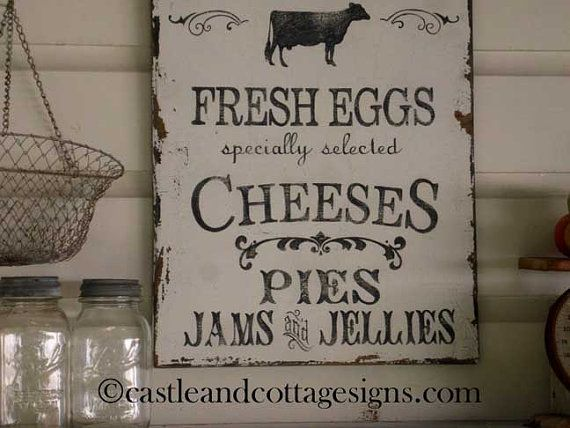 Farmhouse Vintage Farmers Market Sign Handpainted Original Design