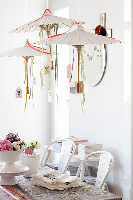 DIY Party Decorating idea...great idea for a baby or bridal shower!