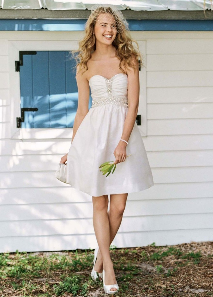 NEW! Short Embellished Strapless Dress with Pleating Style EJ2M2715