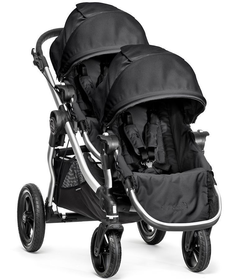 2016 Baby Jogger City Select Twin Tandem Double Stroller w/ Second Seat