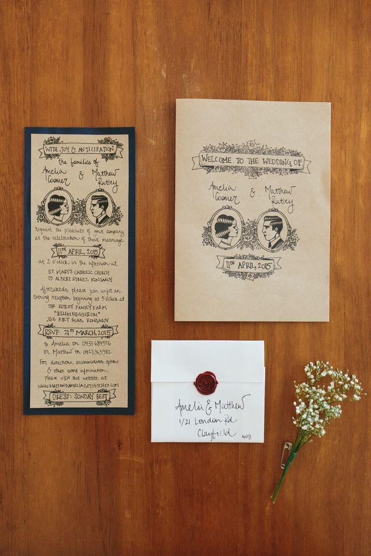 rustic wedding invitations diy kits%0A A Homespun  u     Heartfelt Country Wedding
