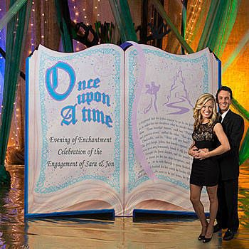 Our Fairytale Story Book Standee starts out with ONCE UPON A TIME and allows your personalization to be added.