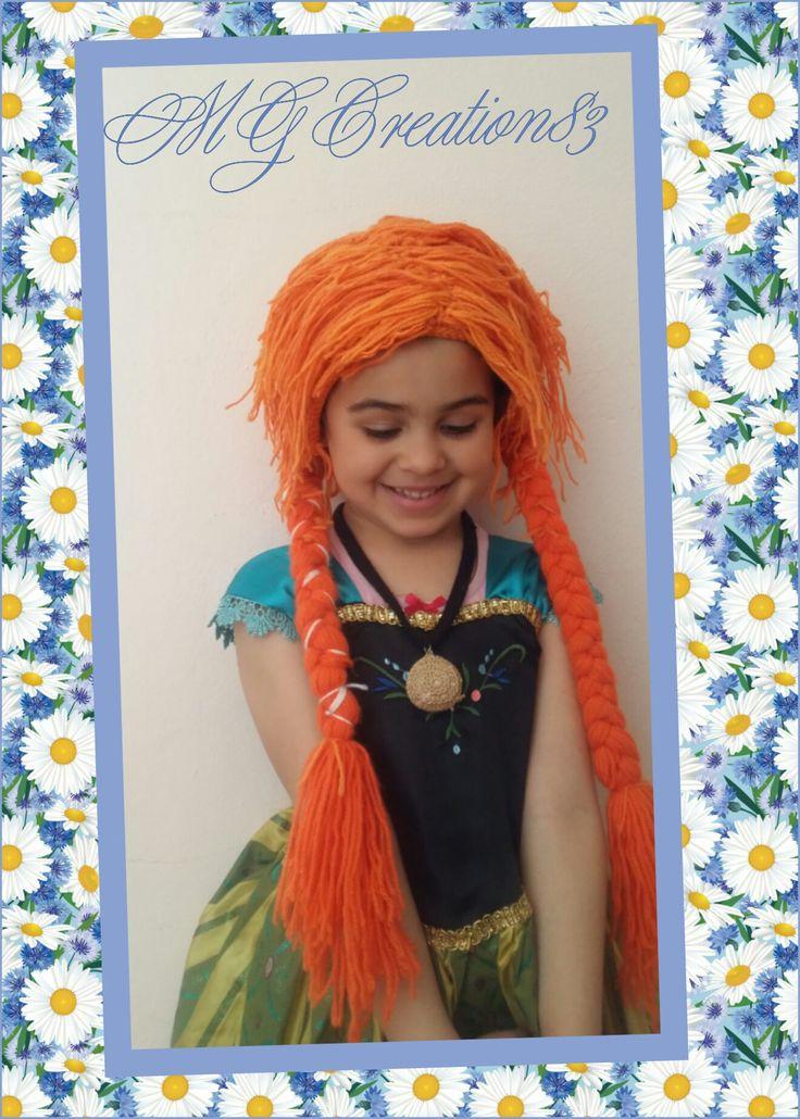 """Quanto prima sarà pronto il tutorial e potrete anke voi assomigliare ad Anna di Frozen...iscrivetevi nel mio gruppo facebook """"Crochet Time with Giulia"""" x restare aggiornati!!"""