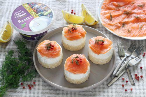 Recettes de mini cheesecakes au saumon
