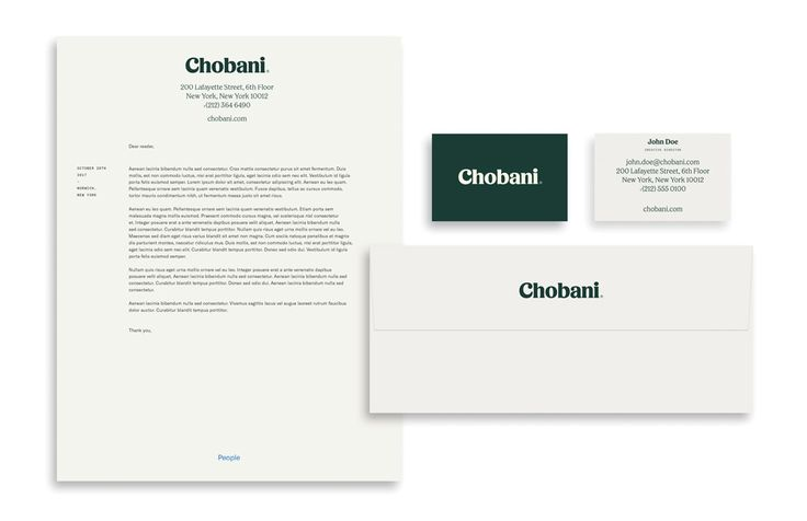 New Logo, Identity, and Packaging for Chobani done In-house