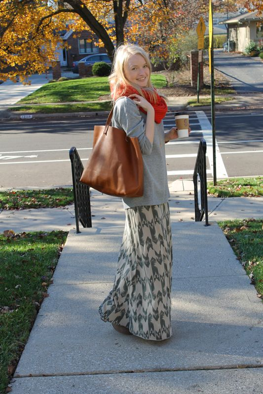 Wearing Maxi's in the fall and winter.  This is definitely happening for me this year.