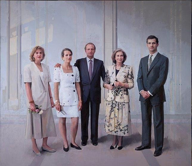 Primera imagen, en su versión definitiva, del «Retrato de la Familia de Juan Carlos I», de Antonio López