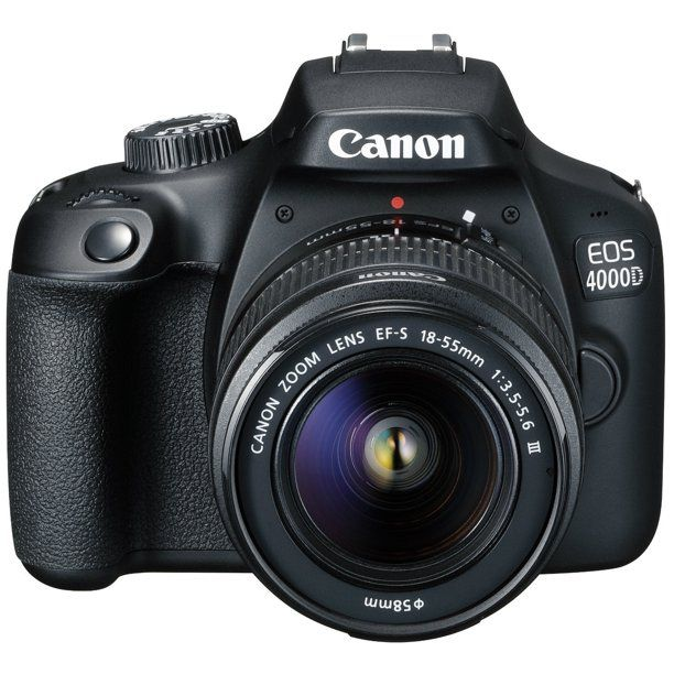 Canon Eos 4000d Dslr Camera Ef S 18 55 Mm F 3 5 5 6 Iii Lens Walmart Com Canon Dslr Canon Eos 4000d Canon Eos