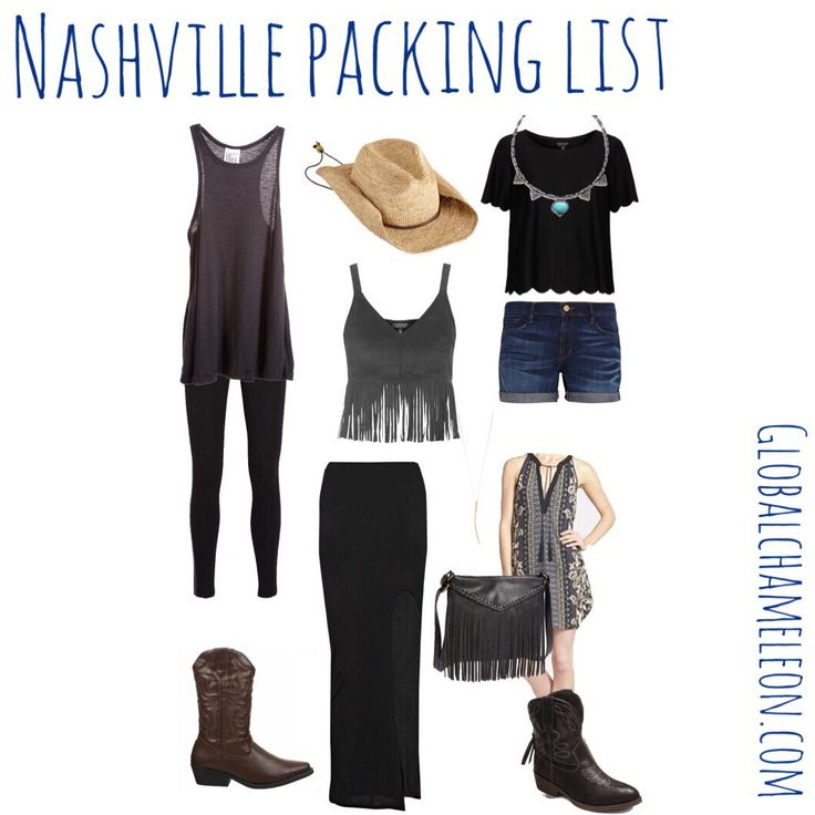 The ultimate packing list for Music City, USA complete with outfit ideas AND Printable Packing Checklists for Cowboys and Cowgirls alike!