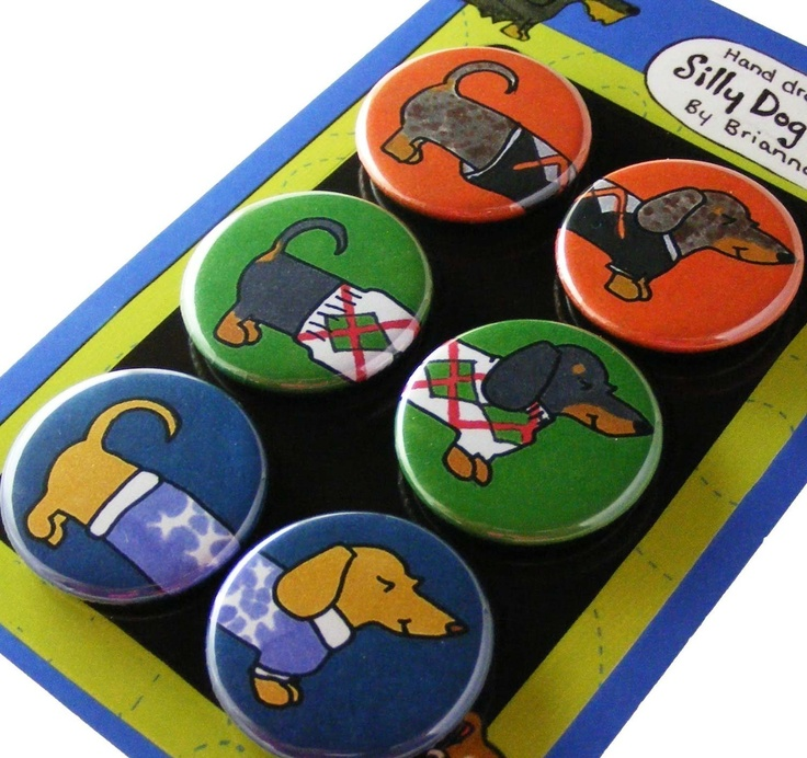 Dachshunds In Sweaters Silly Dog Magnets
