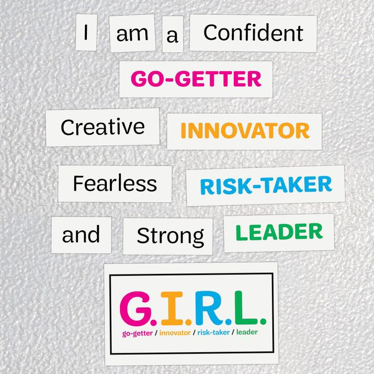 Celebrate your inner G.I.R.L. with the latest swag from the Girl Scout Shop! #swag #girlscouts #GIRL #confident #gogetter #innovator #risktaker #leader