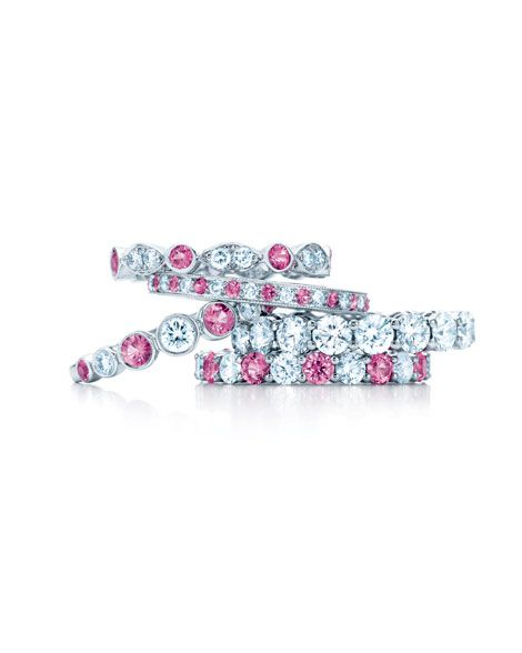 soo cute. the bottom one definitely a possible wedding ring even though its pink. makes it special (: