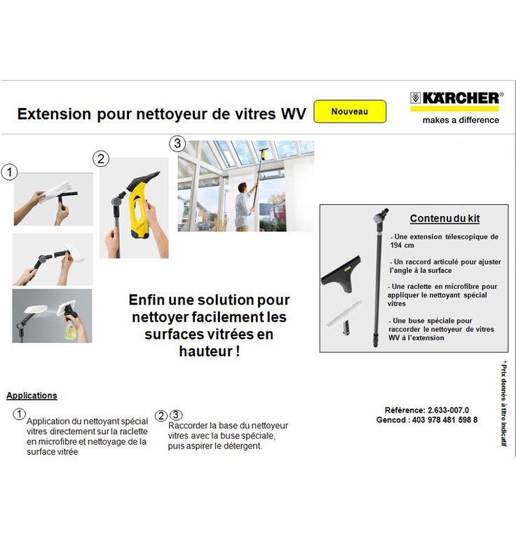 KARCHER Extension pour WV - Achat / Vente LAVE-VITRE ÉLECTRIQUE KARCHER Extension pour WV - Cdiscount