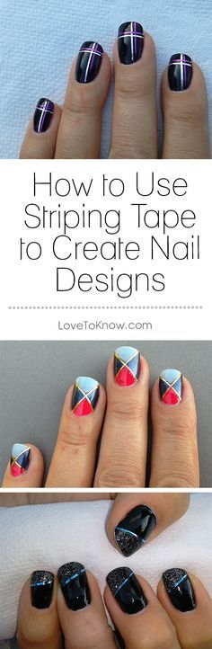 Striping tape can provide a pop and a shine to any manicure. The tape comes in a variety of colors and finishes, and it can help you create nail art that is guaranteed to get noticed. Whether you're interested in making basic stripes or a more elaborate design, striping tape is easy to use to create a one-of-a-kind manicure. | How to Use Striping Tape to Create Nail Designs from #LoveToKnow