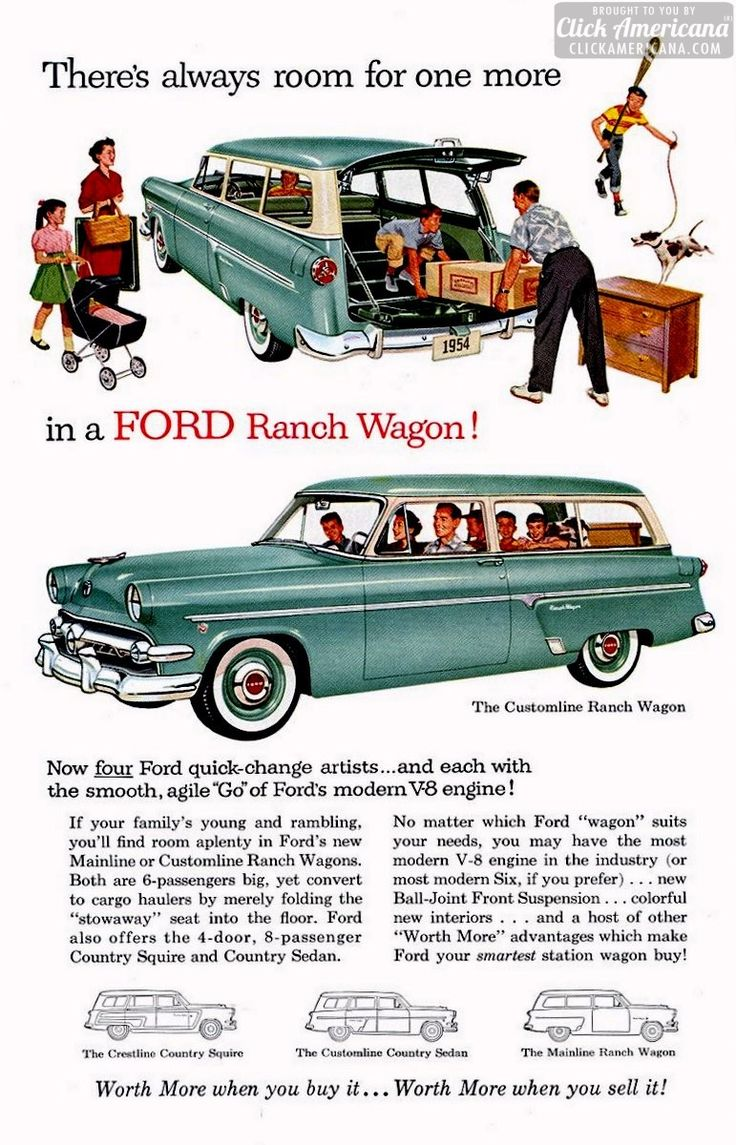 Little red wagon funny car pictures car canyon - 1954 Ford Ranch Wagons 2 Door Double Duty Dandy