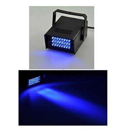 Lightahead Mini LED Strobe Light with 24 Super Bright LEDs Mini Dj Strobe Light Flash Light for Halloween, Club Dj Disco Bar Stage House Party Lighting (Blue)